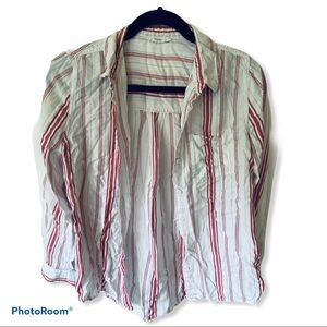 beachlunchlounge red striped shirt